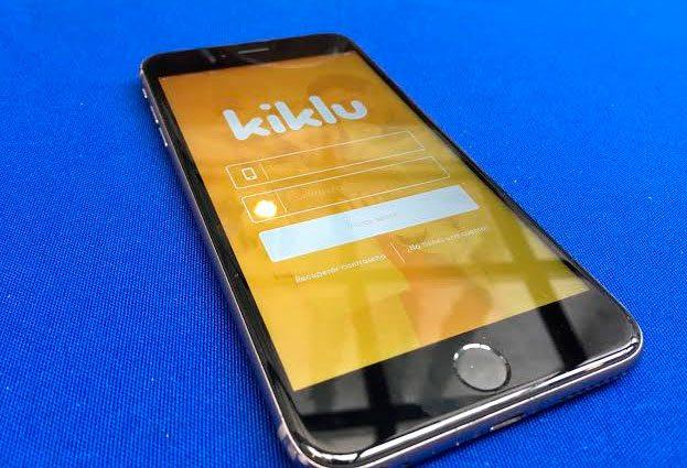 Vista de la aplicación de Kiklu