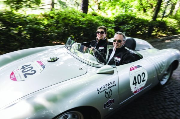 Christine Scheufele and Karl-Freidrichg Scheufele Mille Miglia 2015, Brescia, Italy, 14th May 2015 (c) Alexandra Pauli for Chopard