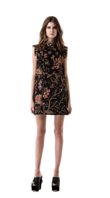 Vestido floral hecho diseñado por las hermanas Sarti para la colección de verano 2016