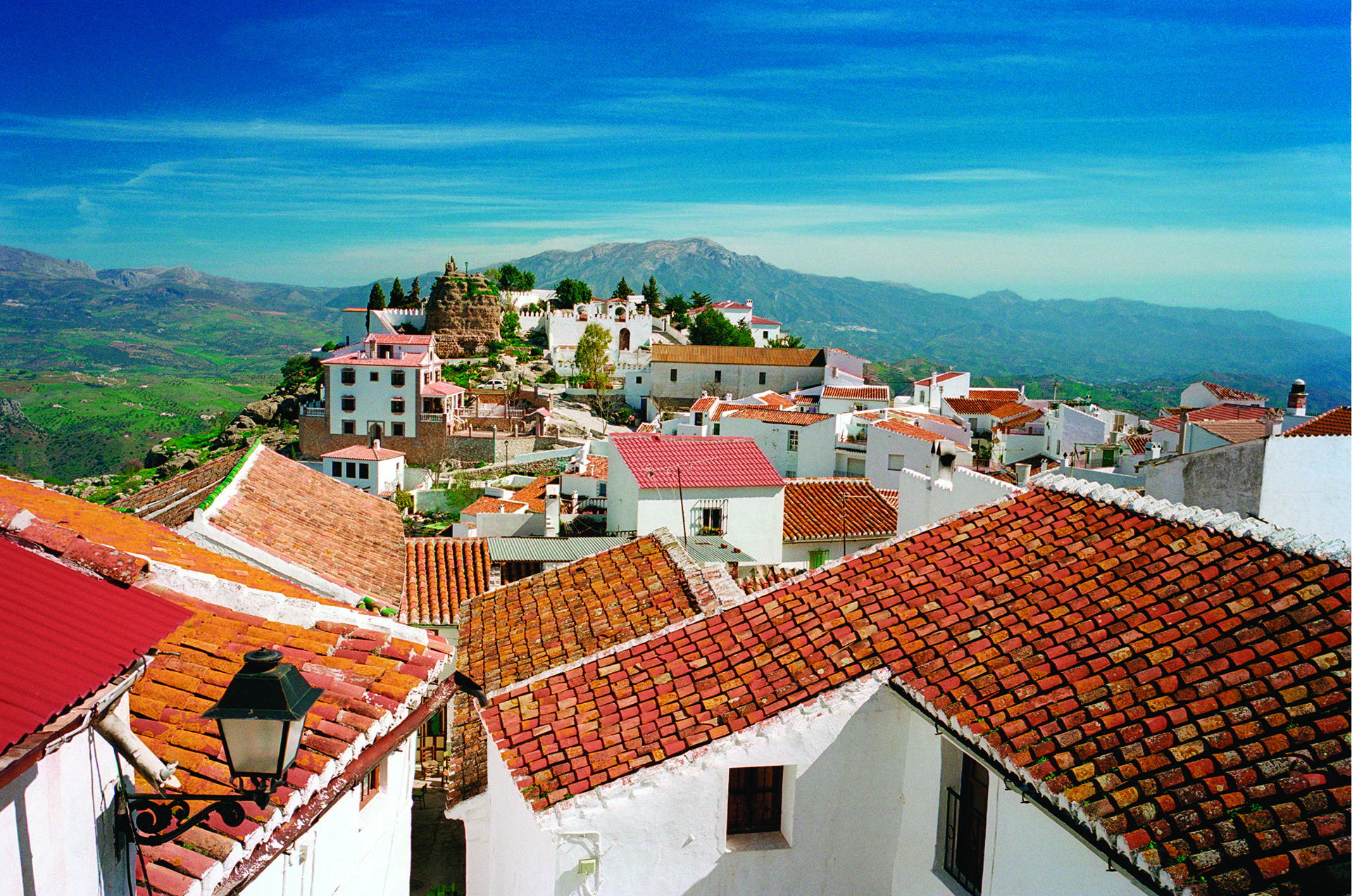 village of Comares, near Malaga, southern Spain