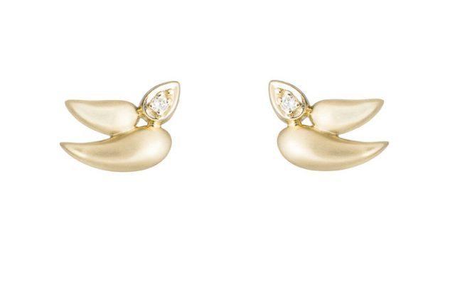 Artes de H.Stern en forma de paloma de la paz en oro y diamantes.