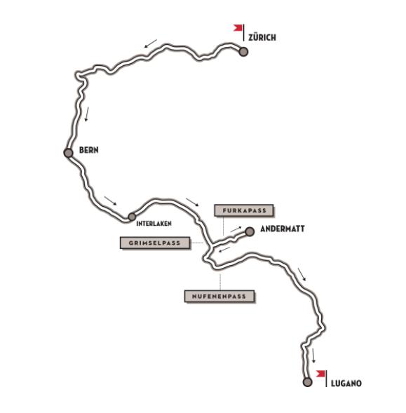 Mapa del recorrido que se realizó el pasado junio.