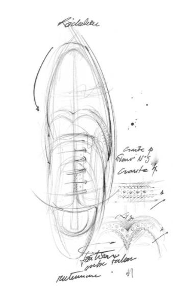 Diseño de un zapato a la medida Louis Vuitton.