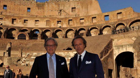 Diego della Valle, fundador y director ejecutivo de Tod's . Con Andrea della Valle.