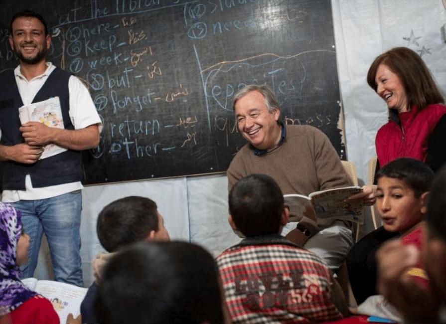 De 2005 a 2015 António Guterres fue comisionado de refugiados por parte de la ACNUR.