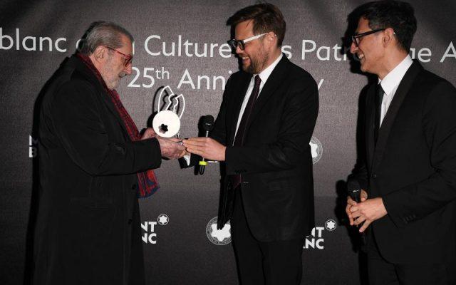Entrega del premio Montblanc de la Culture Arts patronage a Giorgio Marcconi.