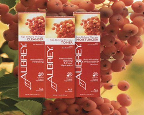 Productos para el cuidado de la piel de Aubrey Organics.