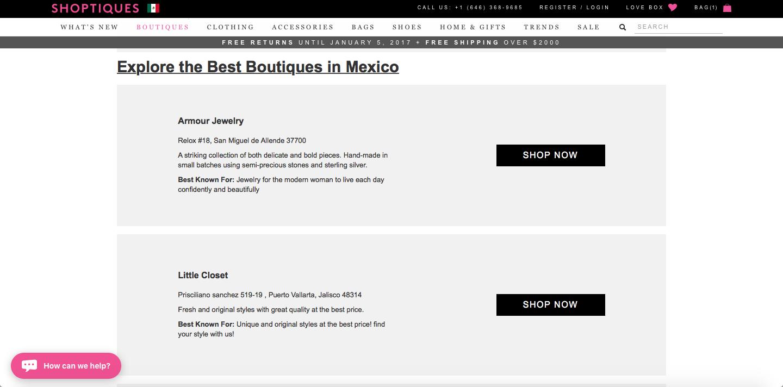 shoptiques mexico