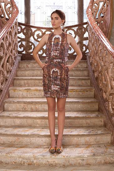 Vestido diseñado por Shantall Lacayo.