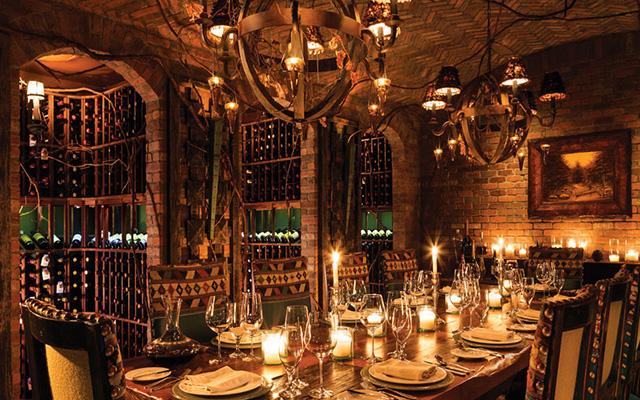 Comedor para cenas privadas.