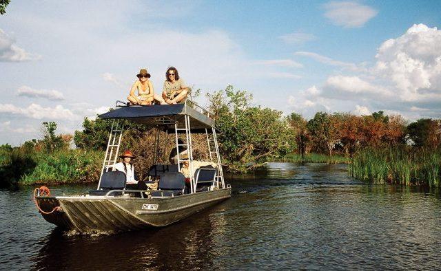 Paseos por las lagunas de Delta en donde se pueden ver pequeños cocodrilos.