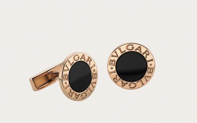 Macuernillas de la nueva colección de joyas para hombre creada por Bvulgari.