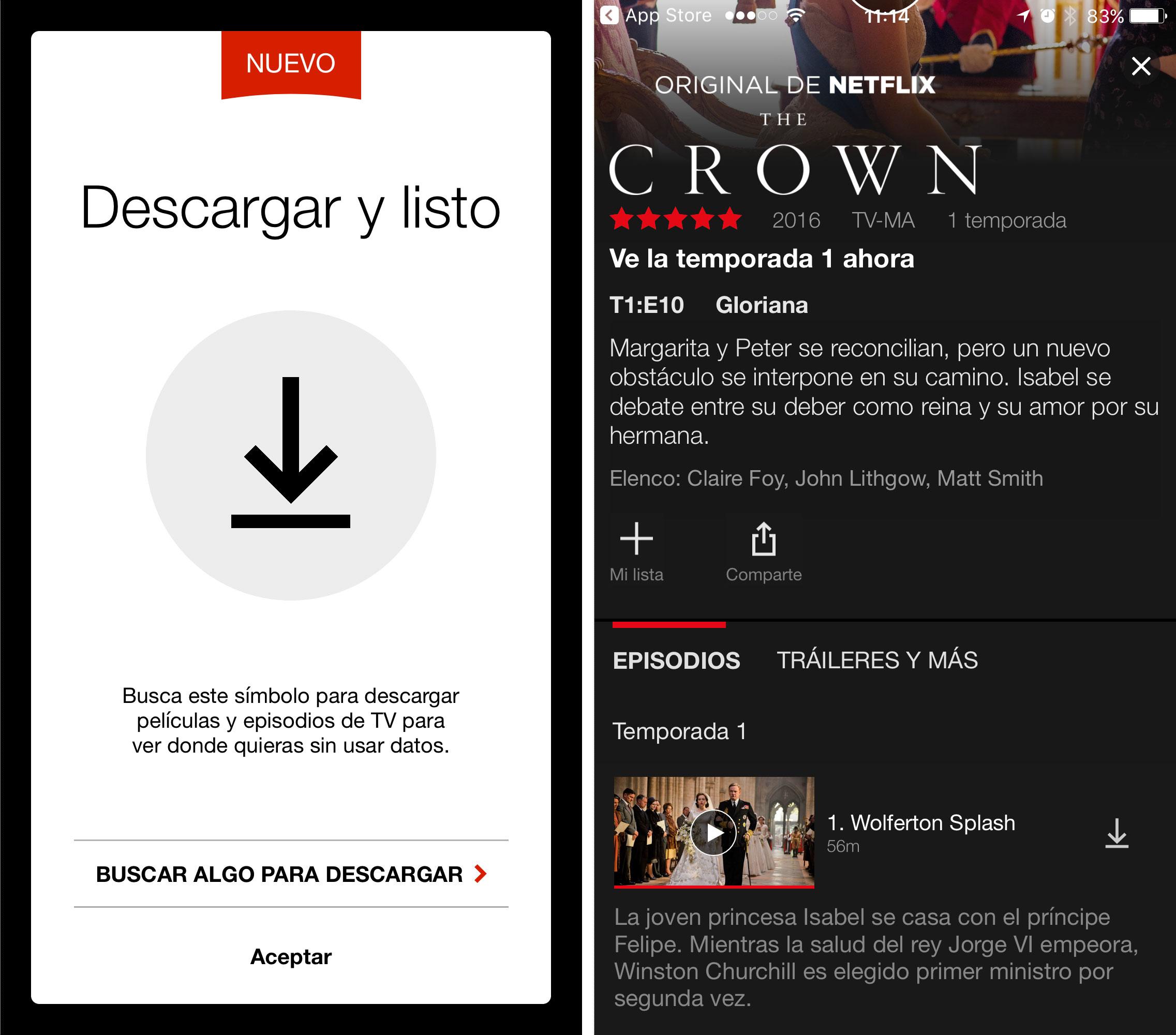Netflix ya permite descargar su contenido para verlo offline
