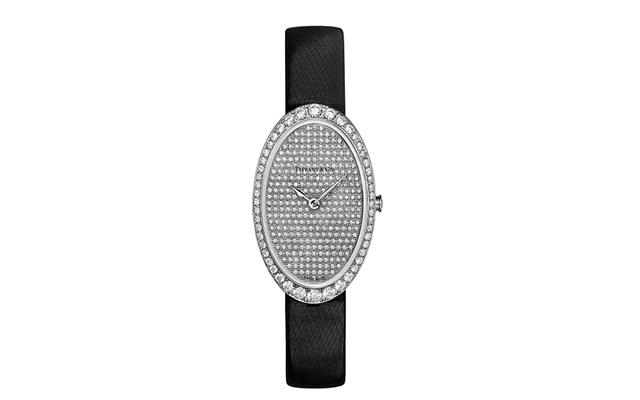 Reloj para cóctel de Tiffany & Co con diamantes en pavé.