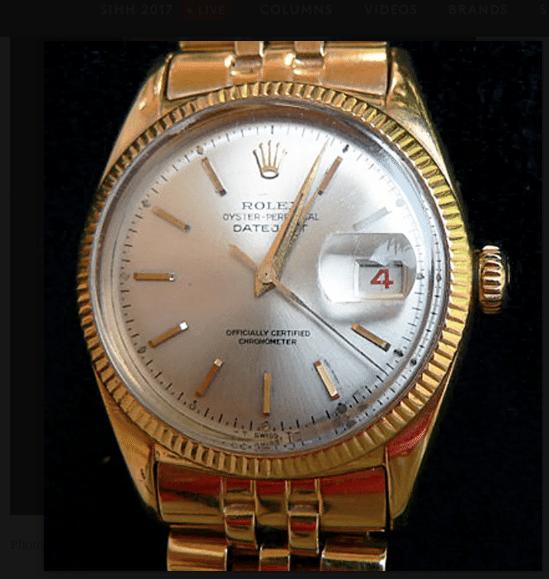 62856bf34df6 El reloj era de oro y representaba el cronómetro 150.000 oficialmente  certificado de la compañía. Eisenhower le mandó a grabar sus iniciales en  cinco ...