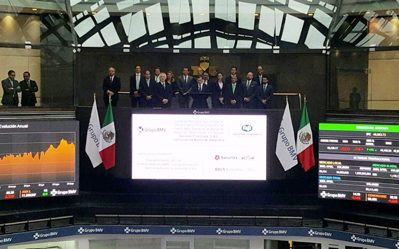Nafin coloca su primer bono verde por 2,000 mdp