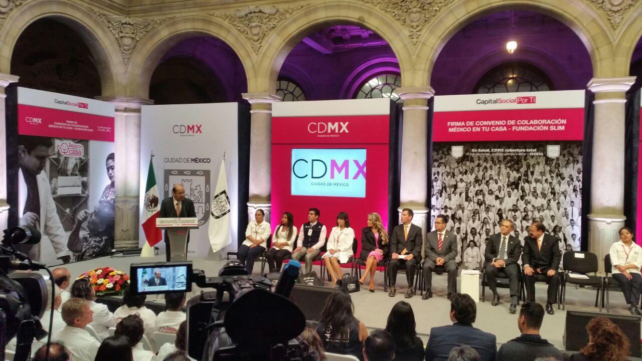 Fundación Carlos Slim firma acuerdo con la Secretaría de Salud de la Ciudad de México